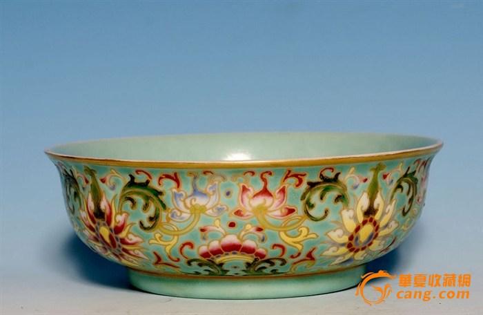 清早期乾隆五彩描金花卉瓷碗