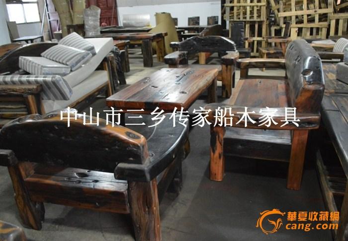 独板沙发 靠背大独板 船木家具 沙发套装 大气款