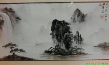 手掌画专家苍鸿先生山水画作品