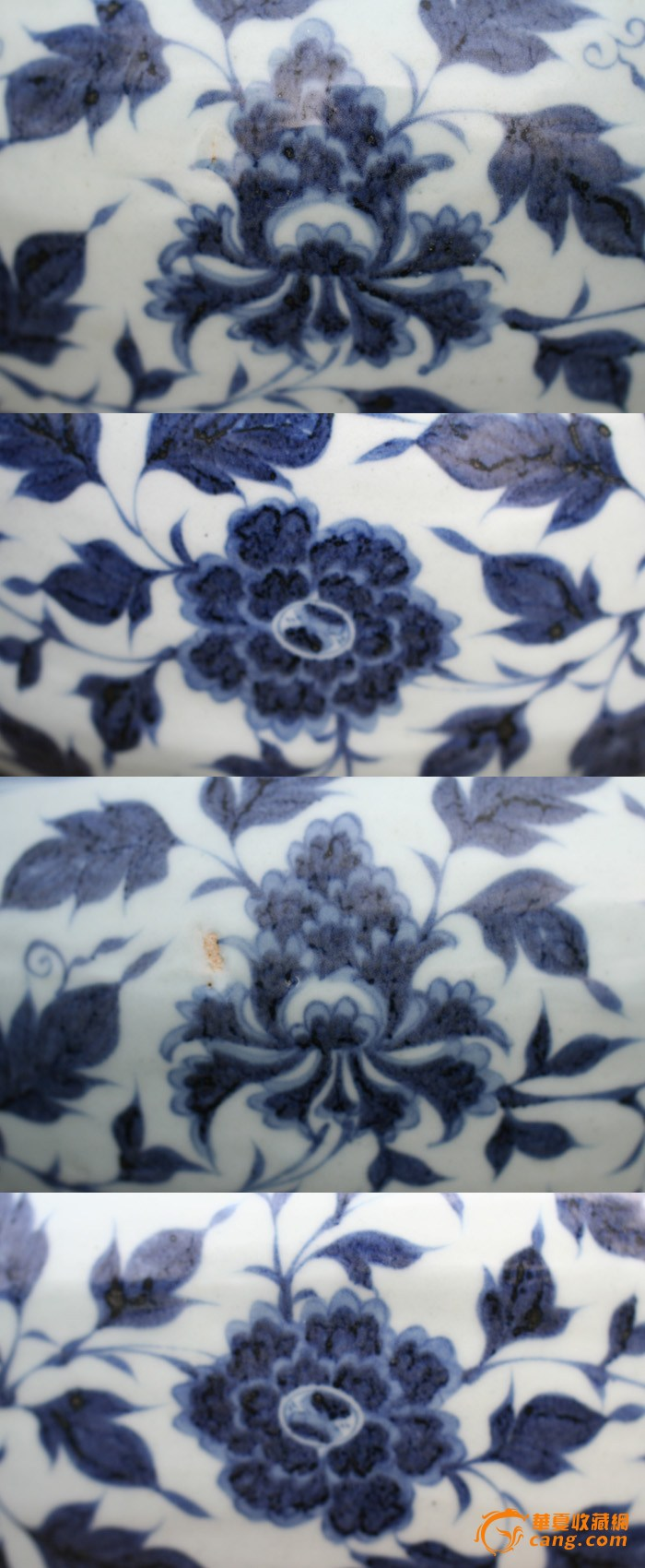 成就了一代经典青花纹样牡丹采用半圆勾线,勾线灵动,一笔成型,牡丹叶
