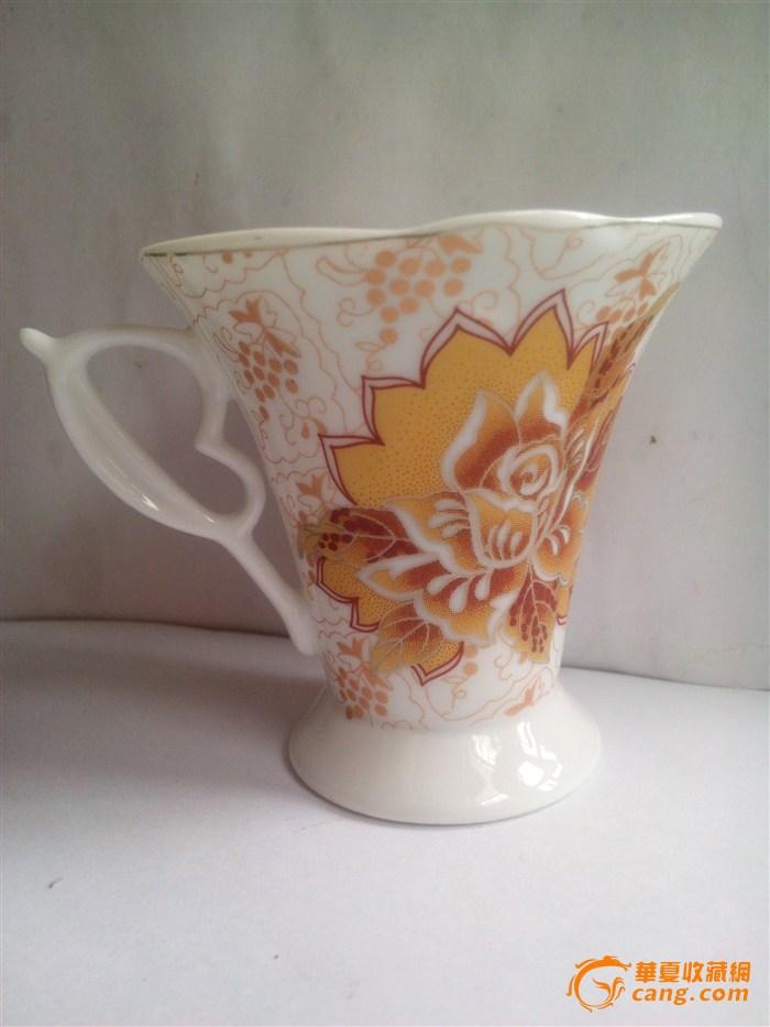 鎏金花欧式小瓷杯