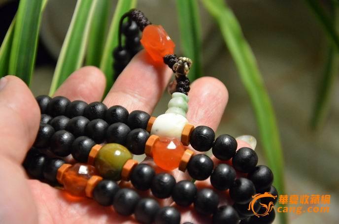 自己玩的大珠藏传佛教老小叶紫檀佛珠