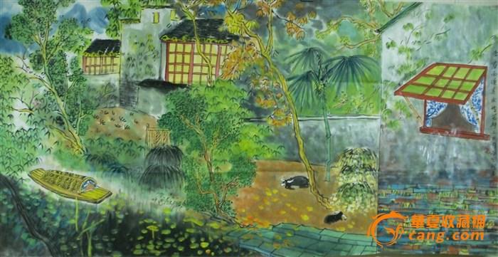 横幅艳丽油画风景图片