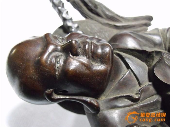 清代紫檀木雕人物图片