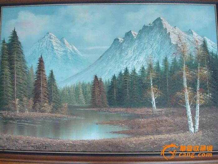 r fuller 英国油画家 绘制1950年 山水风景