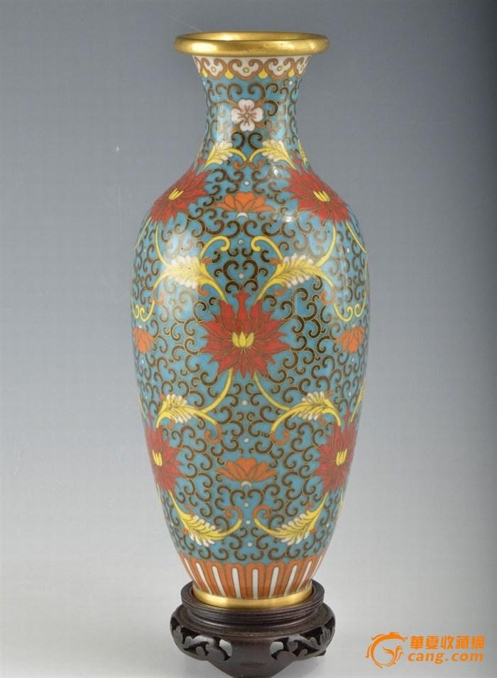 掐丝珐琅 年代/50年代的掐丝珐琅瓶
