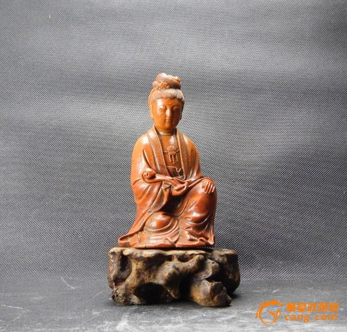 【清】―寿山石观音坐像