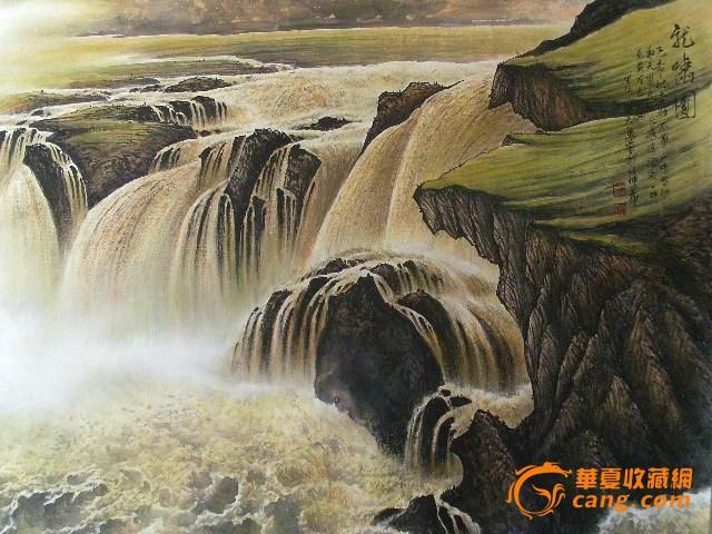 雨轩画廊山水志远手绘