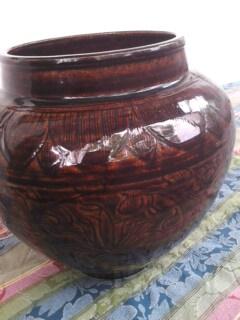 元代酱釉罐