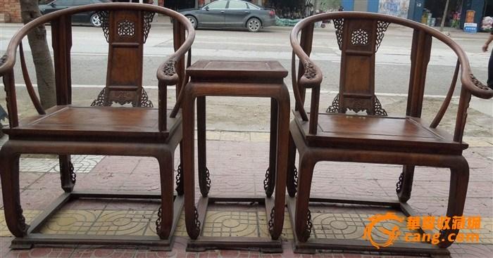 黄花梨木圈椅王