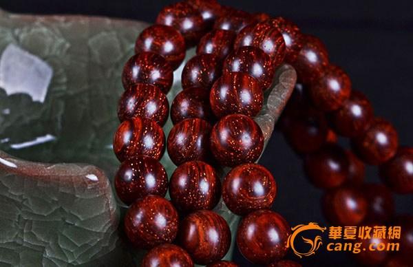 印度小叶紫檀佛珠手串图片