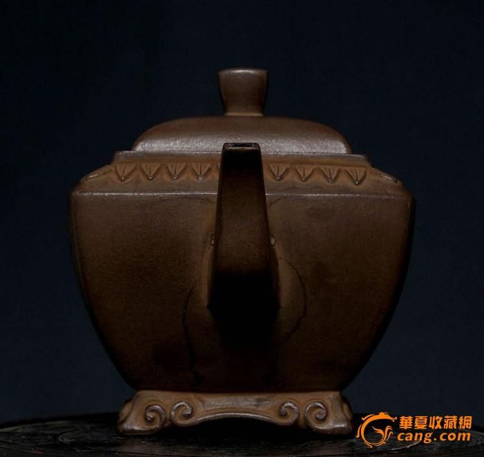 罕见的大清乾隆年制紫砂壶图片
