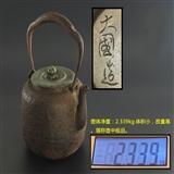 铁壶收藏者梦寐以求的大国造 龙文堂桶型素铁壶 !