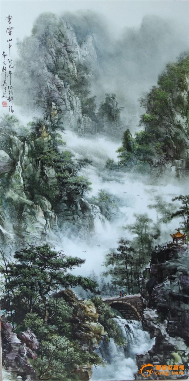 瓷板山水画