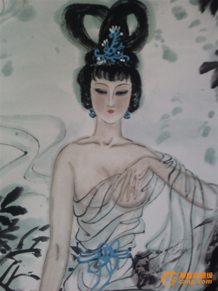 唐明人物画《白娘子》