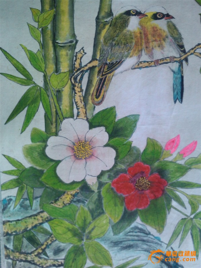 花鸟画《鸟语花香》