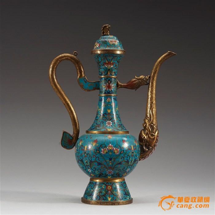 古代酒壶矢量图