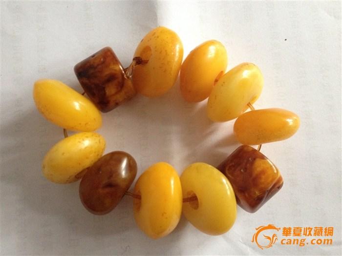 蜜蜡手链 蜜蜡手链鉴定 来自藏友 塞北老翁 珠 高清图片