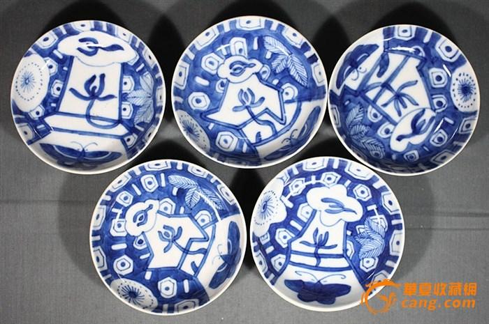 空盘子青花瓷简笔画幼儿园