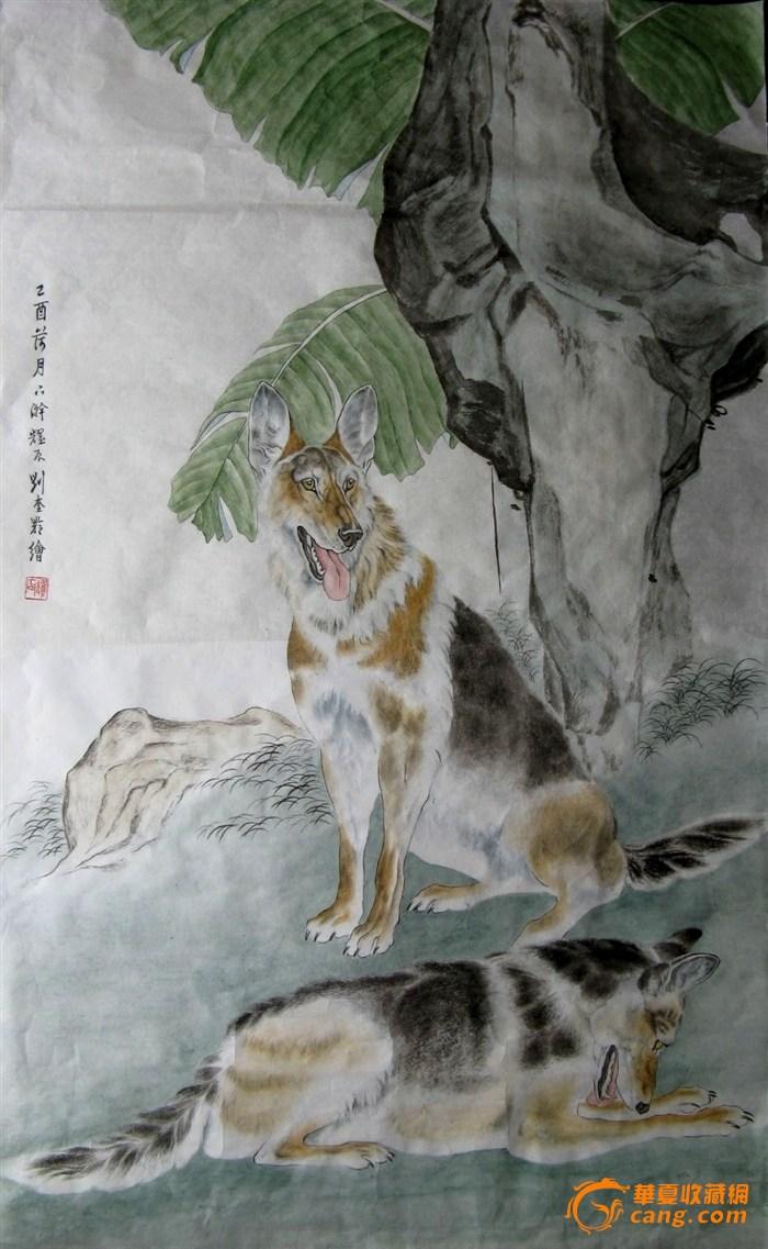 再推荐动动物画大师刘奎龄的最小指导弟子的画