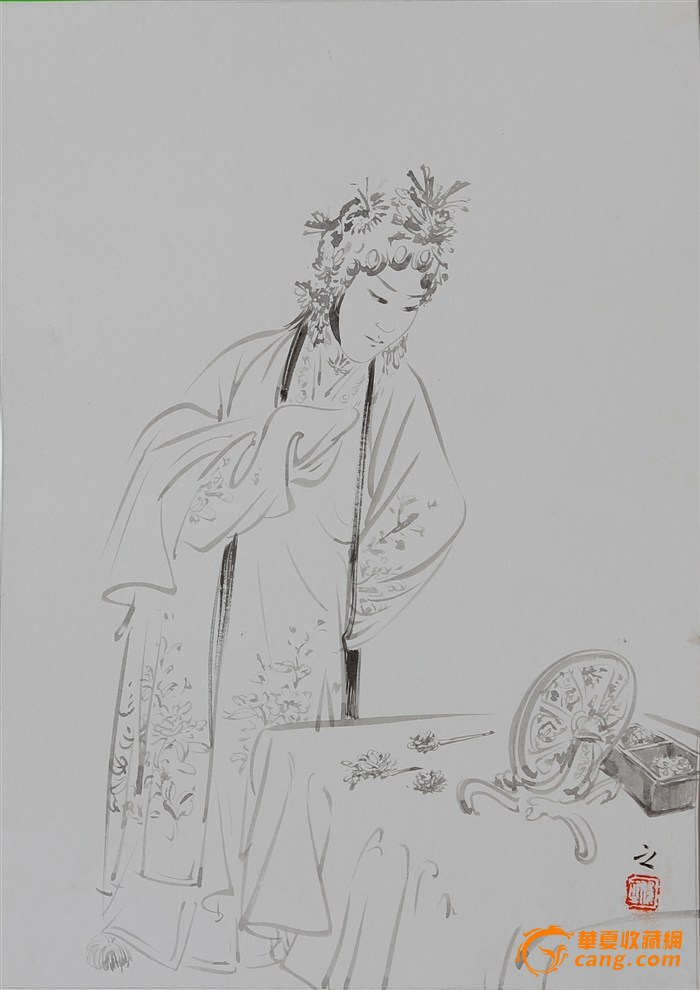 孙俊之线描人物