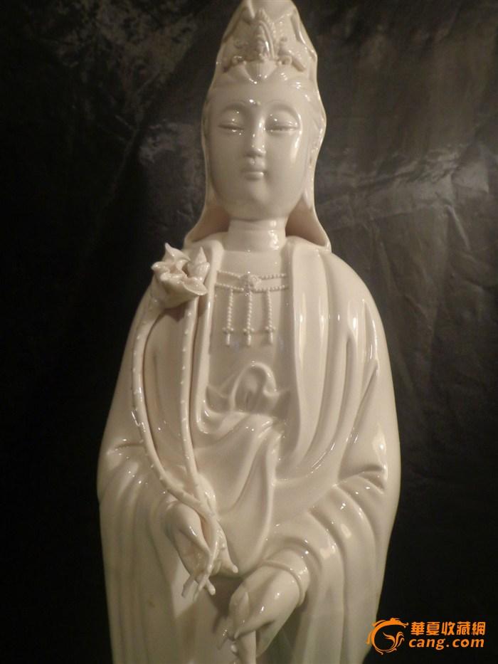清代德化白瓷观音塑像