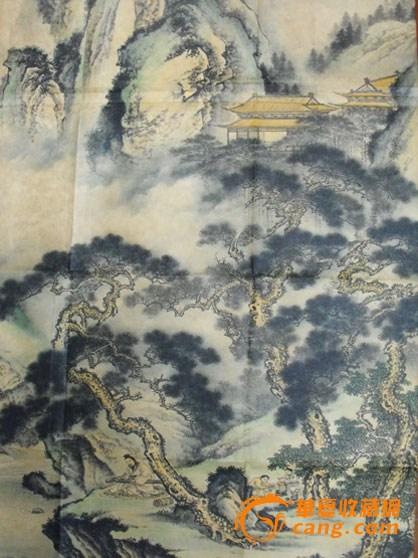 清代著名画家白龙山人王震人物山水画(图片之二)【通古博物院】
