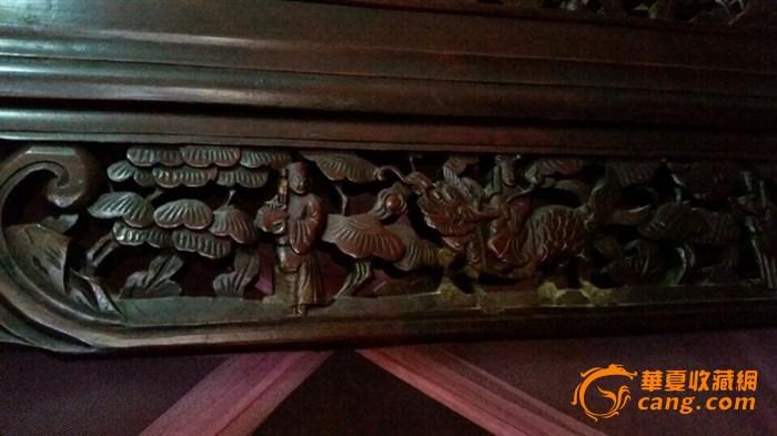 清中晚期红木纯手工制作,八仙过海雕花