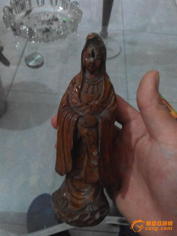 清代木雕佛像-图1