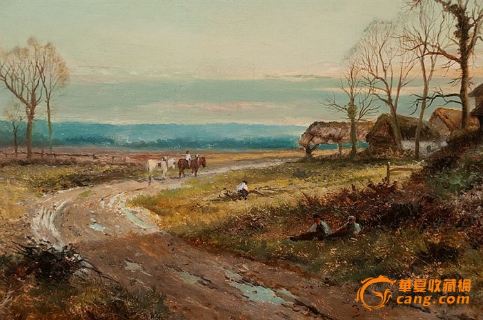 108*60cm,亚麻布,英国著名风景画家Daniel Sherrin (British, 1868-1940)的精品Daniel Sherrin 出生于英国Brentford,出身艺术世家,早年作品以海景题材为主,中晚期作品主要描绘英格兰高地风景,1895-1915时期名声最盛,作品深受英王乔治五世(George V,18651936)喜爱,并委托其创作,目前白金汉宫内仍悬挂有Daniel Sherrin作品,英国各大博物馆均有收藏。18-19世纪英国风景画艺术成就举世公认,本人认为Daniel She