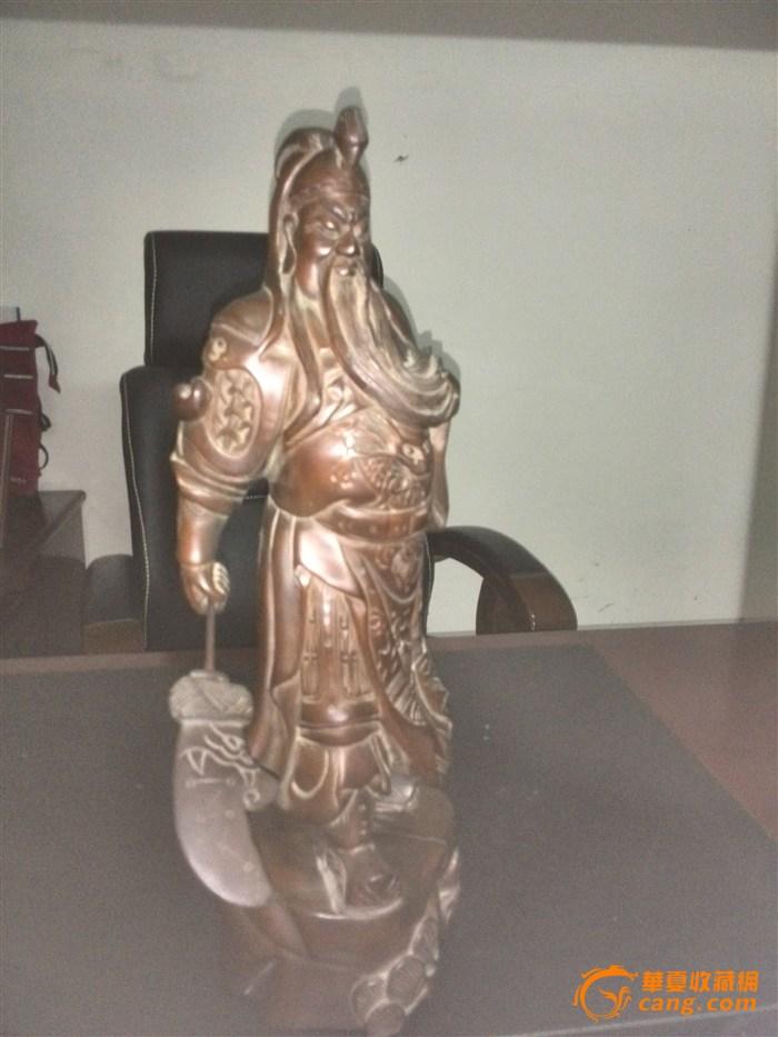 黄杨木雕关公像-图1