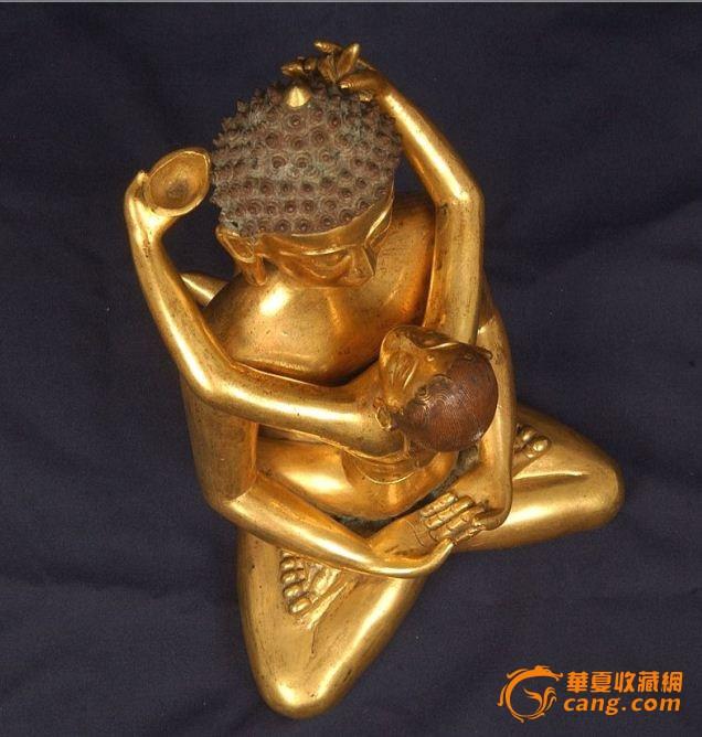 藏传鎏金欢喜佛 新品