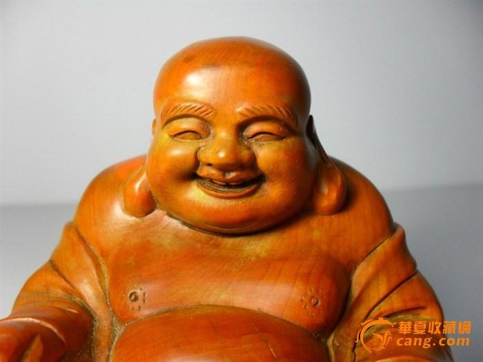 【木雕】黄杨木大肚弥勒坐佛