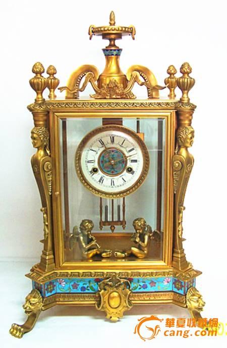 仿古机械钟表做旧铜铸镀金钟表