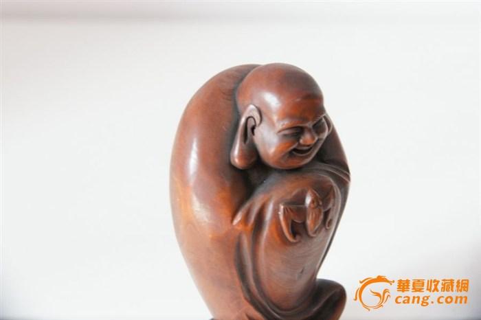 【人物】清代红木弥勒佛像