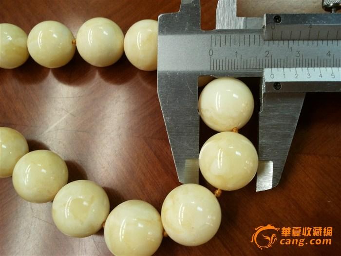波罗的海白蜜蜡项链 高清图片