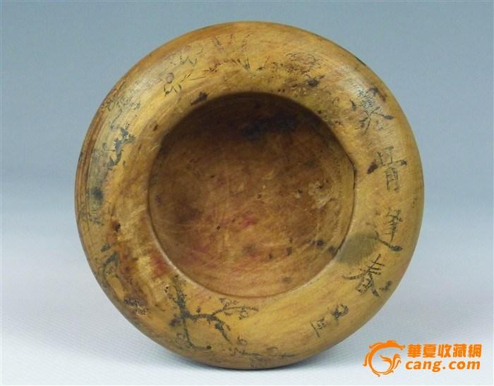 【文房雅玩】清黄杨木水盂