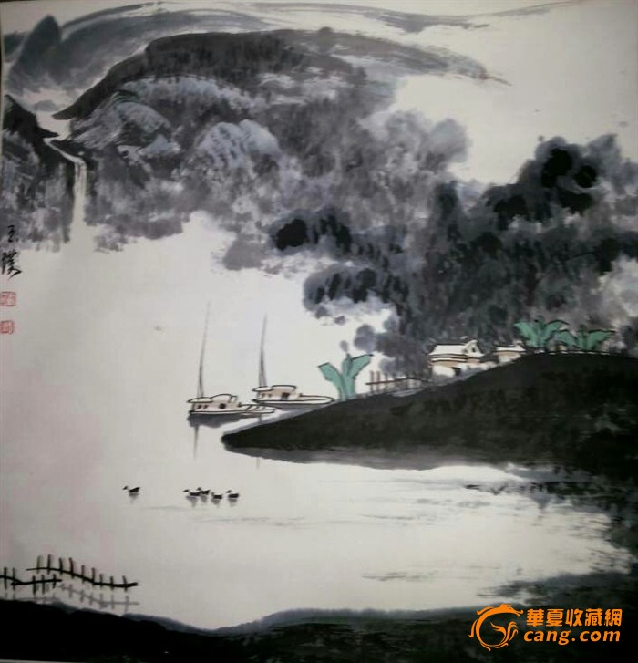 山东画家刘玉璞山水作品请老师鉴赏.谢