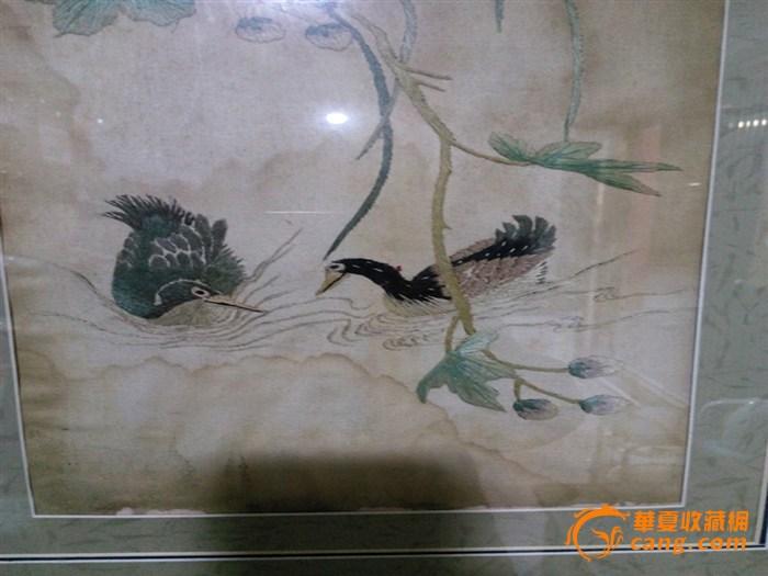 清代:花鸟刺绣