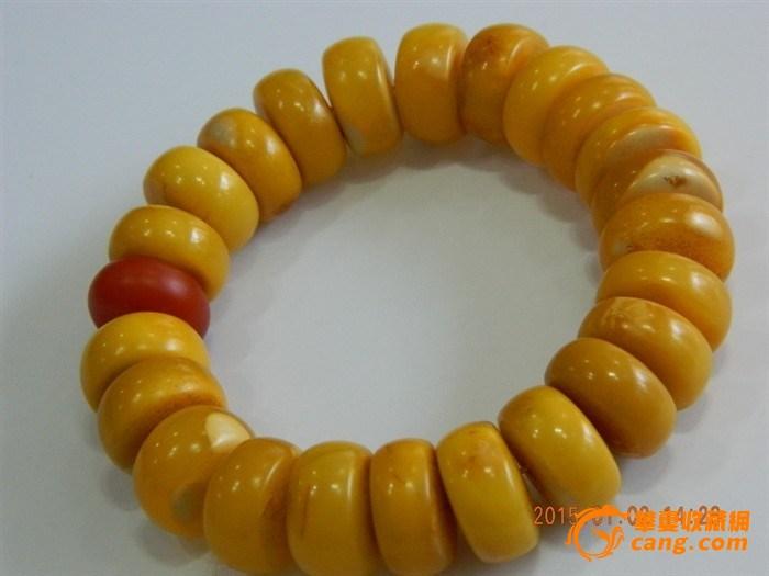 鸡油黄天然蜜蜡手串 图1 高清图片