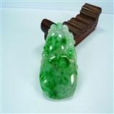 底价出货老冰糯种飘阳绿吸财葫芦翡翠挂件送证书