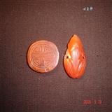 (心玉轩) 清 红玛瑙团寿纹、寿星帽饰