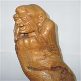 【木雕赛宝】长眉罗汉——浙江根雕大师刘小金大师早年作品