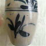 清代兰花罐