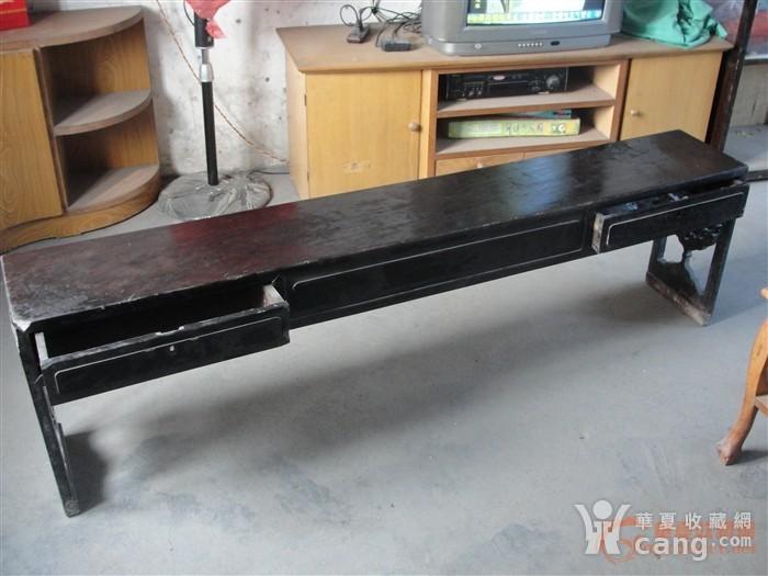 明代红木雕花长条桌
