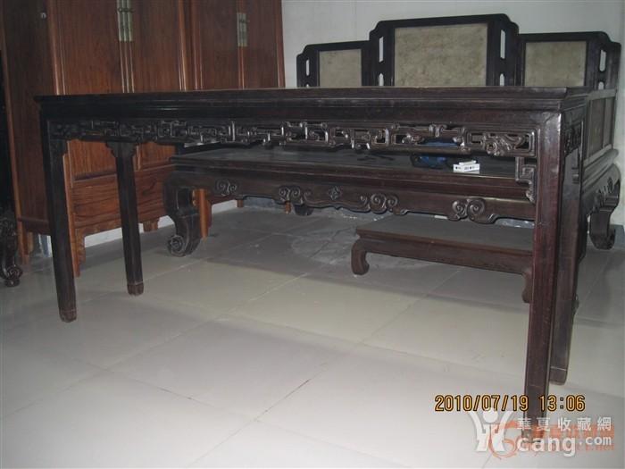 清中晚期红木条桌,长181厘米,宽42厘米,高86厘米.
